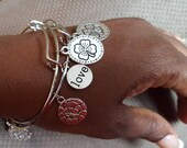 Expandable charm bracelet, Alex & Ani, in silver and gold plated
