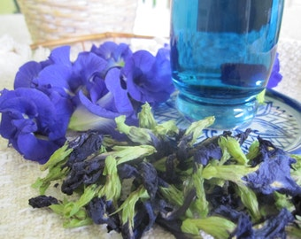 Blue Tea -dried butterfly pea flowers from organic, homegrown plants