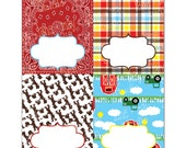 farm theme party food labels, tent cards you print at home - INSTANT DOWNLOAD