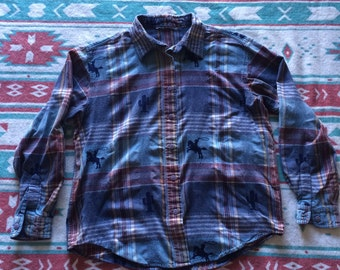 Vintage Cowboy and Western Button Up Shirt