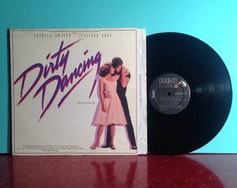 DIRTY DANCING Original Movie Soundtrack Vinyl Record Album LP 1987 Hungry Eyes Patrick Swayze Very Good + Condition Vintage