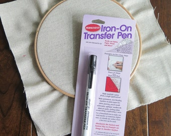 Black Sulky Iron-on Transfer Pen for Image Transfer onto Fabric, Wood, Paper etc