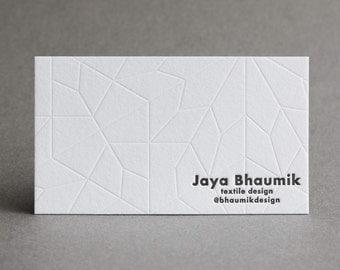 "150 Letterpress Business Cards - ""Euclidian"""