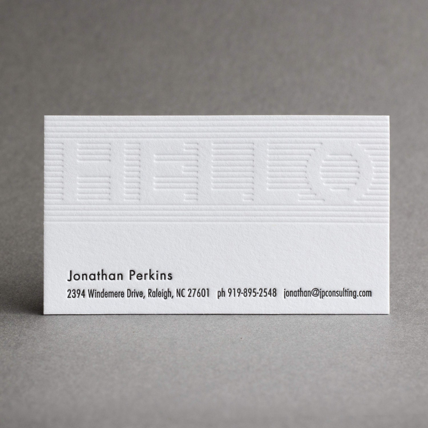150 Letterpress Business Cards Hello