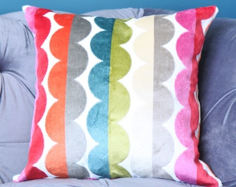 Jonathan Adler Pillow Cover - Modern Red Pink Turquoise Green Yellow Pillow - Blue Chartreuse Pillow - Bright