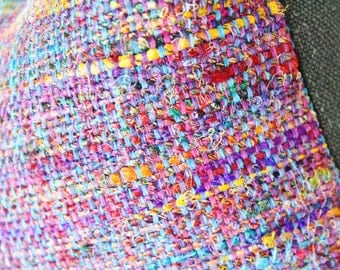 Moroccan Pillow Cover - Blue Purple  Red Orange Teal Pink Yellow Woven Pillow Cover-  Multi Colored Pillow - Designer Throw Pillow Cover