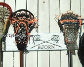 Lacrosse Gift Personalized Custom Lax Team Colors Stick Hanger Equipment Wall Rack Sports Decor Functional Art Sports Gift Idea Sporty Racks
