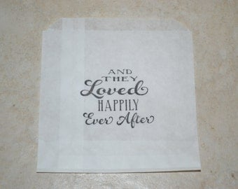 50 Wedding Candy Bags/And They Loved Happily Ever After/Happily Ever After/And They Lived Happily Ever After/Wedding Favor Bags/Shower Bags