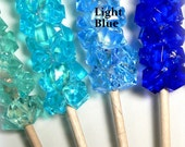 Light Blue Fake Rock Candy Christmas Ornament Decoration