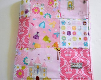 Baby Girl Princess Patchwork Blanket Riley Blake Dream and A Wish--Ready to Ship