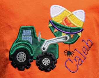Halloween Tractor & Candy Corn T-shirt