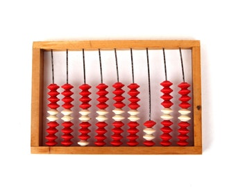 Abacus Soviet vintage abacus Small abacus Vintage office decor Old office Primitive calculator Gift for bookkeeper