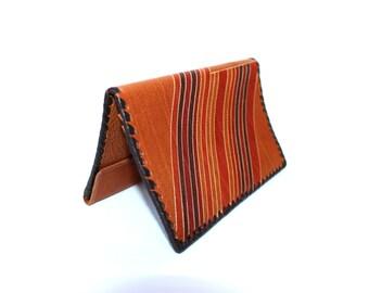 Mens wallet Soviet vintage wallet Large genuine leather wallet UNUSED Embossed leather Tooled leather wallet