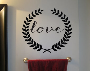 Vinyl Decal Love Wreath