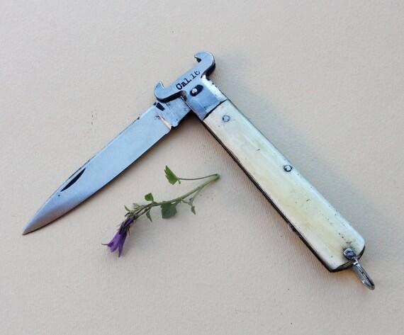 Antico raro coltello da tasca del 1940 coltello in corno con for Coltelli antichi italiani
