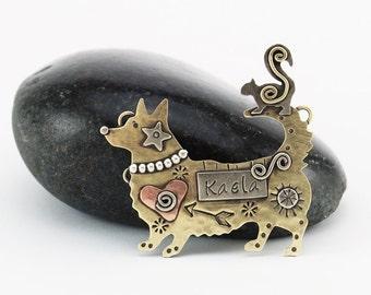 Welsh Corgi, Corgi Pin, Corgi Mix Pin, Corgi Dog Jewelry, Personalized Dog Jewelry, Memorial Pet Jewelry, Personalized Pet Jewelry, RP0670
