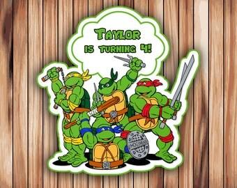 Ninja Turtles Cake Etsy