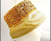 Gold Sequence  Pillbox Hat