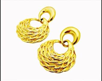 Anne Klein  Earrings Chainky dangle Pierced Earrings