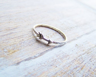 Sterling Silver Arrow Ring, Silver Arrow Stack Ring, Stack Ring, Boho Ring, Arrow