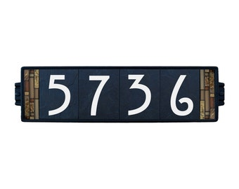 Address Plaque House Numbers Sign Craftsman Earth 4