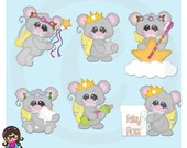 2015 Tooth Fairy Mice Clip art  Clipart Graphics  Commercial Use