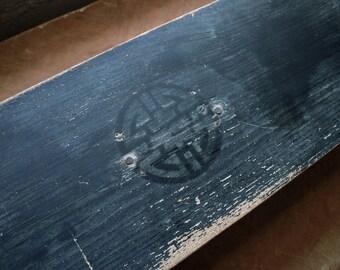 Reclaimed Mahogany Wooden Jewelry Box // Reclaimed Wood Deco Jewelry Box