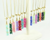 Tassel Necklace, Semi-Precious Tassel Necklace, Long Tassel Necklace