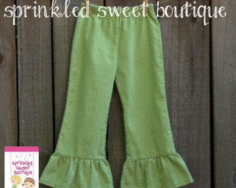 SALE Ready To Ship Big Ruffle Corduroy Girls Pants Perfect for Fall Thanksgiving Christmas Cute Matches Applique Shirts