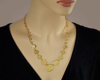 SALE 30% OFF Coins-Gold Necklaces Hammered Coins Necklaces