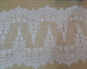 Lace, Lace Trim, Bridal Fabric, Bridal Trim, Bridal Lace Fabric  G38-511