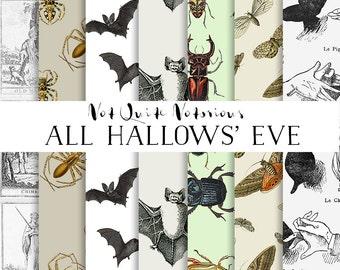 Digitial Paper Halloween Prints & Patterns - Instant Download