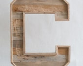 XL wood letters for wall - large wooden letters - wooden wall letters - reclaimed wood letters