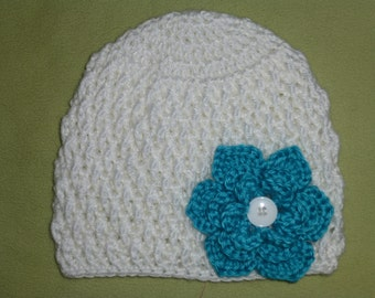 6-12 Months Hat With 4 Removable Flowers