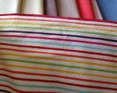 "Multi coloured striped cotton webbing 6"" wide very trendy"