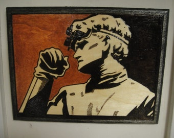 Doctor Horrible Plaque Pyrography Woodburning Joss Whedon Sing Along Blog