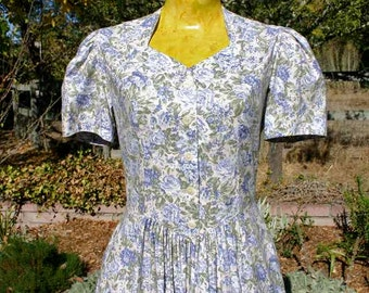 Laura Ashley cotton floral dress, size small