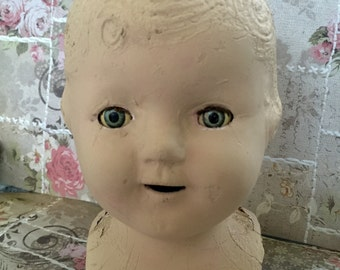 Haunted Doll A Vintage Doll Head With Sleepy Eyes Featured By Timeless Curiosities Sleepy Eyes Halloween Decor Old Doll Head