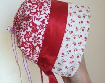 Baby Bonnet with ribbon ties / Child Bonnet / Bonnet with Silk Ribbon Ties / Sun Hat / Sun Bonnet / Baby Hat / Toddler Bonnet / Hats