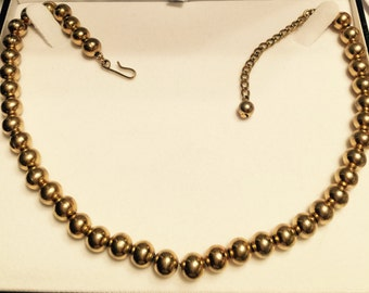 Napier gold beaded necklace