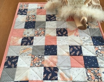 Doll Quilt Blanket Modern Patchwork Doll Quilt American Girl Doll Quilt Accessory Toy Quilt