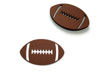 Football Die Cut, Football Party, Bowl Party, High School Football, College Football, Tailgate Party, Cupcake Topper, Football