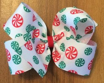 8 Christmas Hair Bows - Girl's Hair bows - Large hair bows - Boutique Girl's Hair bows - Wholesale Hairbows Bows