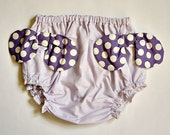 Vintage High Bloomers with Bows Blue for Baby or Girl Lilac