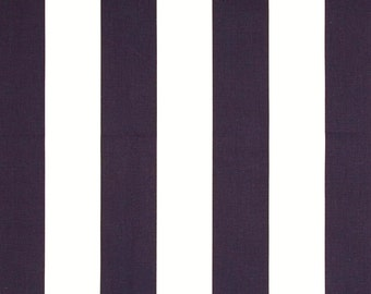 LAST 1/2 Yard Navy Blue White Vertical Stripes -  Premier Prints -  Home Decor Fabric - Duck cloth