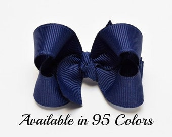 Navy Hair Bow, Baby Hair Bows, Small Hair Bows, Girls Hair Bows, Hair Bows for Babies, Baby Bows, Toddler Hair Bows, Hair Bows, Bows, 200