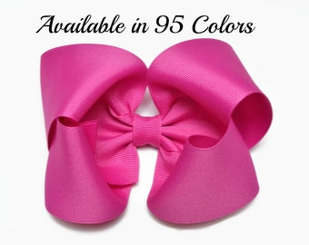 Pink Hair Bow, Toddler Hair Bows, Girls Hair Bows, 5 Inch Bows, Big Hair Bows, Barrette, Alligator Clips, Hair Bows, Hairbows, Baby Bows