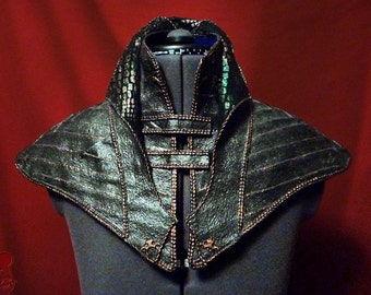 High Collar Shoulder Wrap Costume Armor