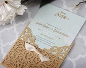 Laser Cut Wedding Invitations - Vintage Wedding Invitations - Laser Wedding Invitations - Peony Wedding Invitations - Wedding Invitations