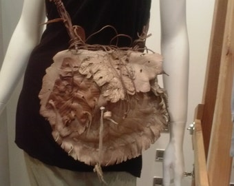 Leather Leaf Purse